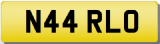 ARLO Private Registration Cherished Number Plate